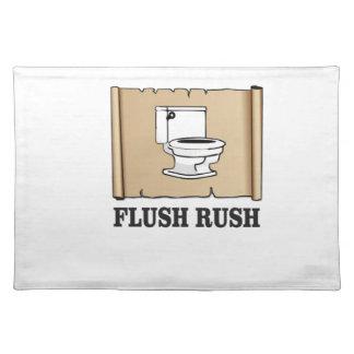 rush flush art place mat