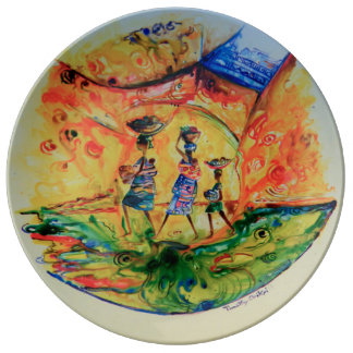 Rush Hour 1-decorative plate. Plate