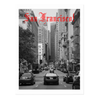 rush hour in San Francisco Postcard