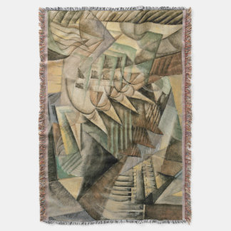 Rush Hour, New York by Max Weber, Vintage Cubism Throw