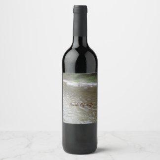 Rush Of Life Wine Bottle Wine Label