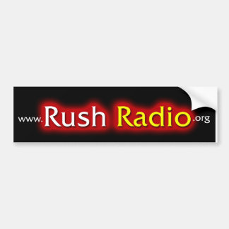 Rush Radio Bumper Sticker