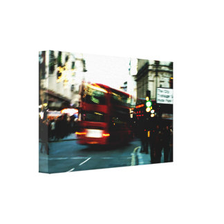 Rushing past city canvas print