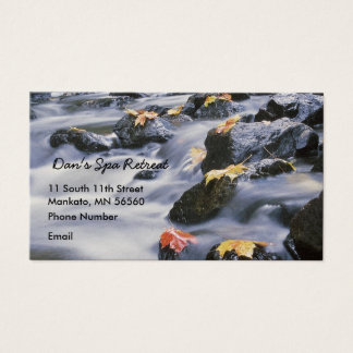Rushing Rapids with autumn leaves Business Card