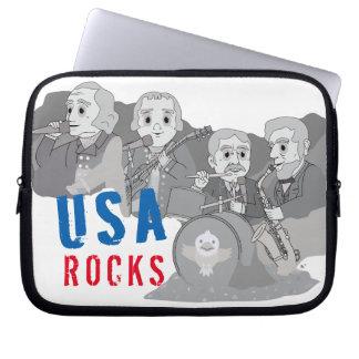 Rushmore Rock Band Laptop Sleeves