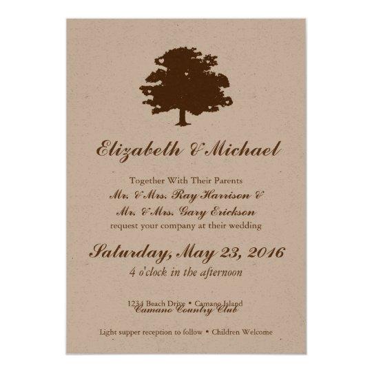 Rusic Tree Wedding Invitation