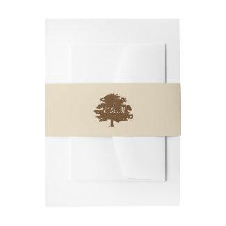 Rusic Tree Wedding Invitation Wrap Invitation Belly Band
