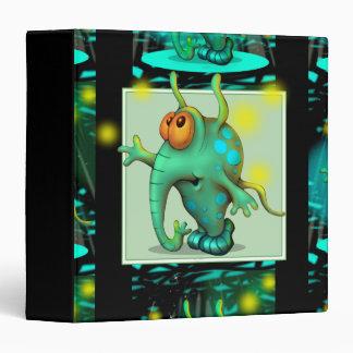 RUSS ALIEN CARTOON  White  Touch™ EZD™ Ring Av 1.5 Vinyl Binder