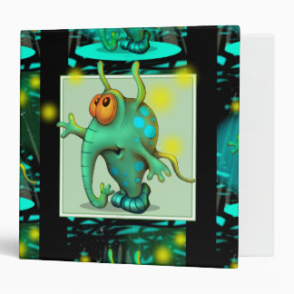 "RUSS ALIEN CARTOON  White  Touch™ EZD™ Ring Av 2"" 3 Ring Binder"