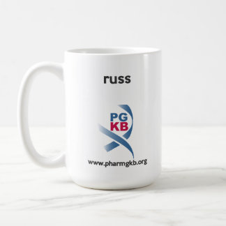 russ - curate red coffee mug