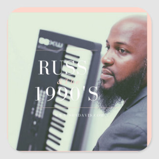Russ Keyboard Player Square Sticker