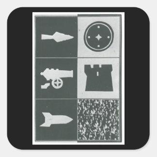russ_poster_Propaganda Poster Square Sticker