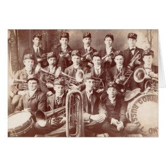 Russell Cornet Band, Minnesota, circa 1908. Card