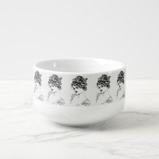 Russell L. Swigert 1917 Art Nouveau Ink Drawing Soup Mug