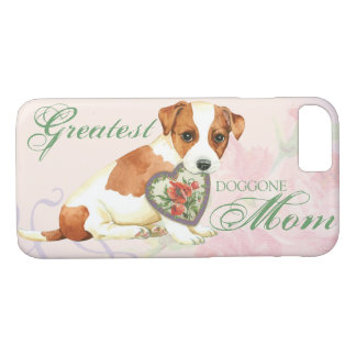 Russell Terrier Heart Mom Case-Mate iPhone Case