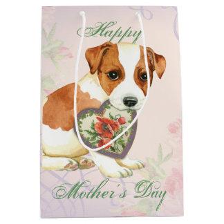 Russell Terrier Heart Mom Medium Gift Bag