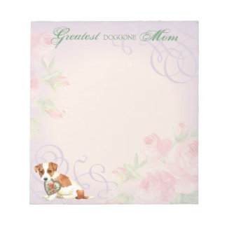 Russell Terrier Heart Mom Notepad