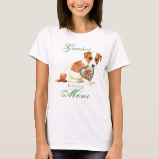 Russell Terrier Heart Mom T-Shirt