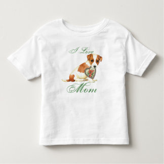 Russell Terrier Heart Mom Toddler T-shirt