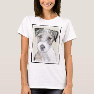 Russell Terrier Rough Painting - Original Dog Art T-Shirt