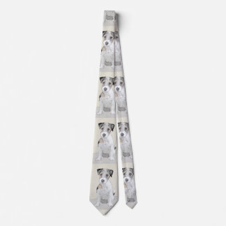 Russell Terrier Rough Painting - Original Dog Art Tie
