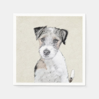 Russell Terrier (Rough) Paper Napkin