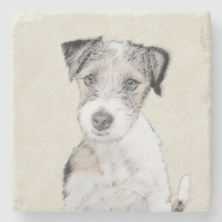 Russell Terrier (Rough) Stone Coaster