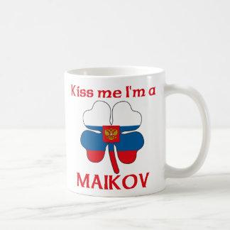 Russes personnalisés m'embrassent que je suis Maik Mug À Café