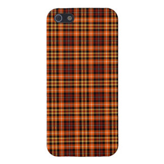 Russet Brown, Orange and Yellow Plaid iPhone 5 Cover