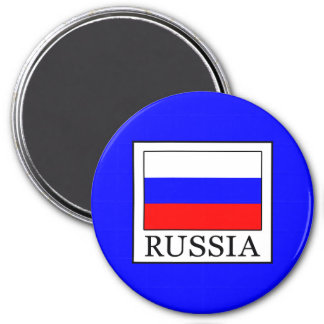 Russia 3 Inch Round Magnet