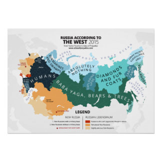 Russia According to the West Poster