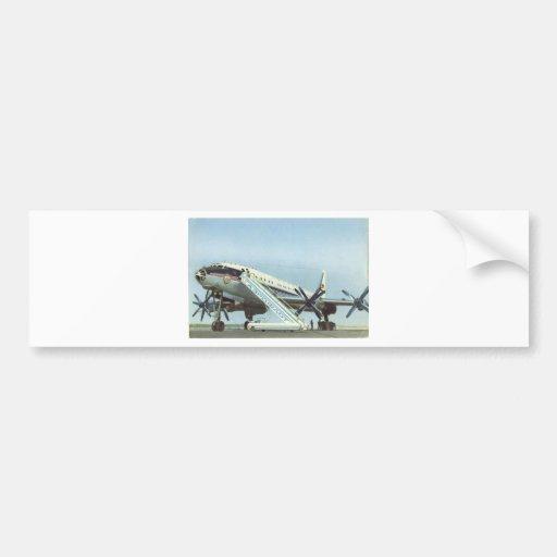 RUSSIA Aeroflot Tu 114 AIRLINER Bumper Sticker