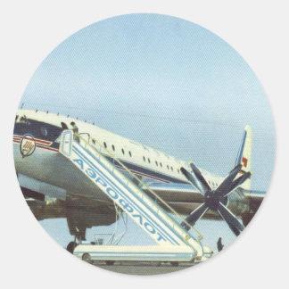 RUSSIA Aeroflot Tu 114 AIRLINER Classic Round Sticker