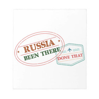 Russia Been There Done That Notepad