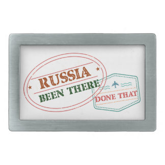 Russia Been There Done That Rectangular Belt Buckle