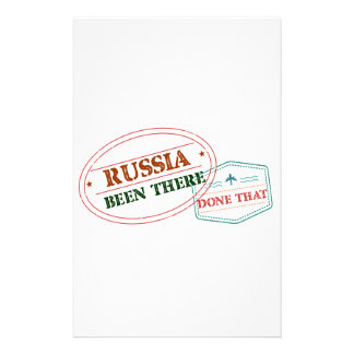 Russia Been There Done That Stationery