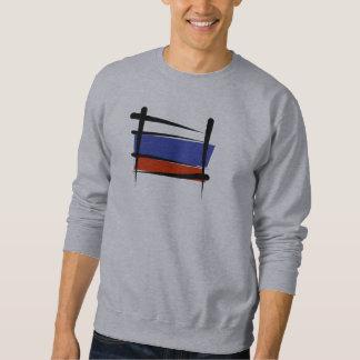 Russia Brush Flag Sweatshirt