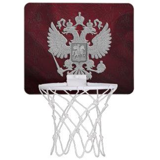 Russia coat arms mini basketball hoop