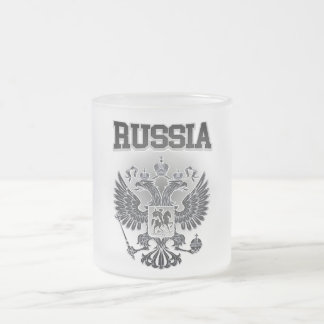 Russia Coat of Arms Frosted Glass Coffee Mug