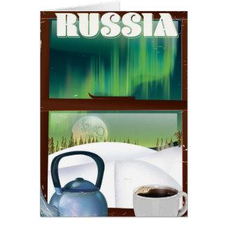 Russia Cosy Hut in the snow Card