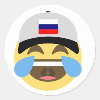Russia Emoji Baseball Hat Classic Round Sticker
