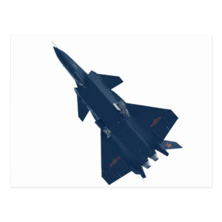 RUSSIA FIGHTER JET POSTCARD