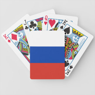 Russia Flag Bicycle Playing Cards