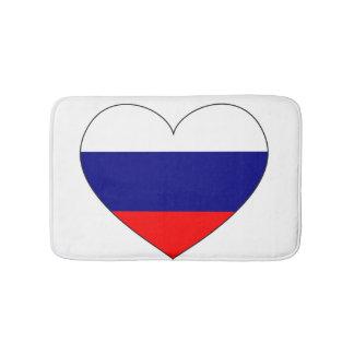 Russia Flag Heart Bath Mat