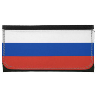 Russia Flag Leather Wallet For Women