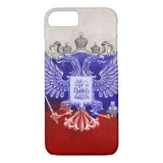 Russia Flag Paint Grunge Design iPhone 8/7 Case
