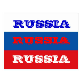 Russia flag postcards