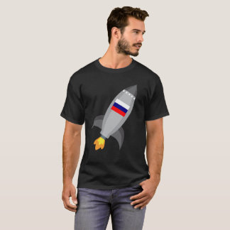 Russia Flag Rocket Ship T-Shirt