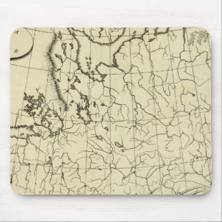 Russia in Europe outline Mouse Pad