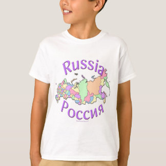 Russia Map T-Shirt